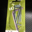 "Bear Kat Products Zinc Plated ""L"" Hooks #8  Qty.4  #94429-2"