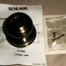 Schlage Single Georgian Dummy Knob Antique Brass Finish #F170N 00 GEO 609