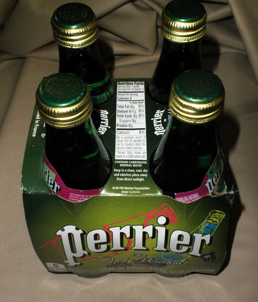 Perrier By Andy Warhol Sparkling Natural Mineral Water 4 - 11.15 Fl Oz Bottles