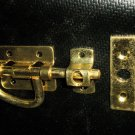 """Bright Polished Brass """"P"""" Door Latch - Complete"""