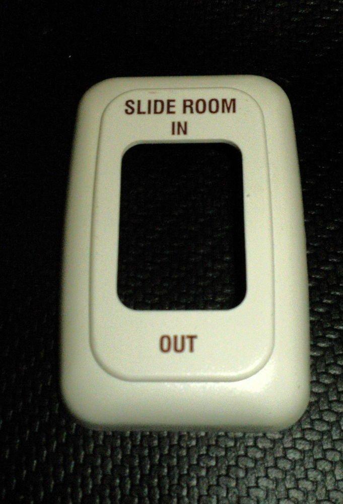 Kruger Plastics Almond 1 Gang Slideout Room In / Out Bezel #AH-BZL-1-1