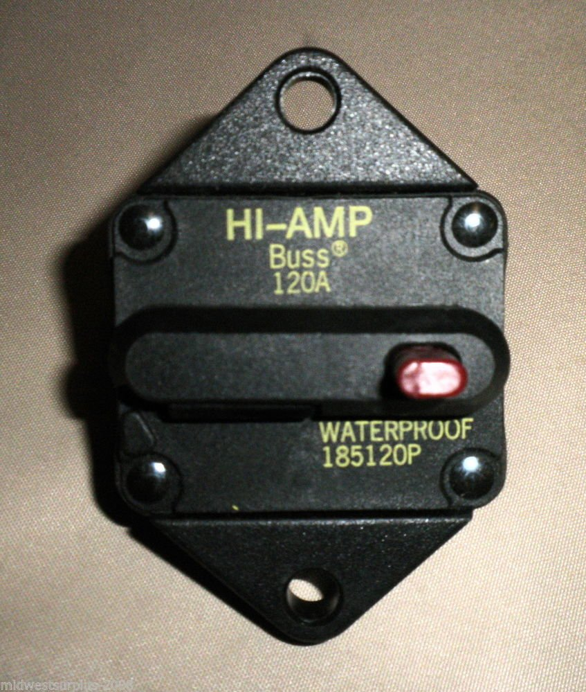 Buss HI-AMP 120A Waterproof Circuit Breaker #185120P