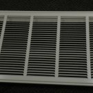 "Hart & Cooley or Lima White Metal 30"" X 14"" Filter Grille #673 043534"