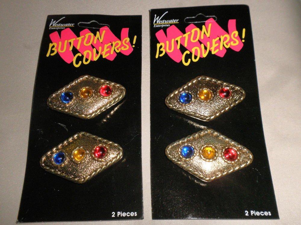 Westwater Enterprises Gold Button Covers Set 4 #097327004705