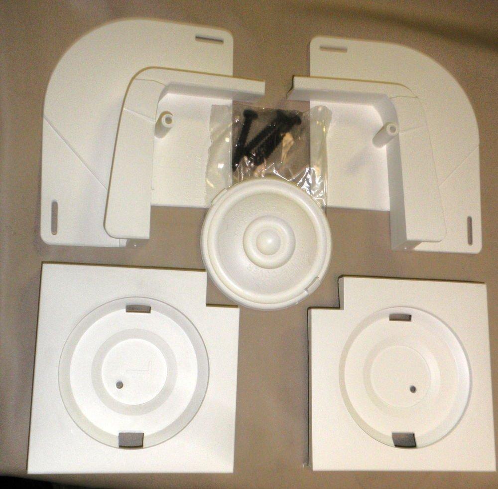 Design Master White Corner Block Rosette Kit #MIFRCBK123
