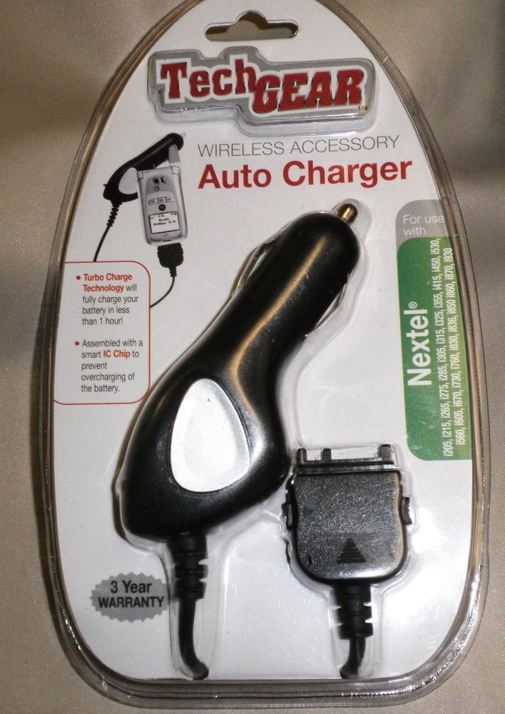 Tech Gear Auto Cell Phone Charger For Nextal #2504