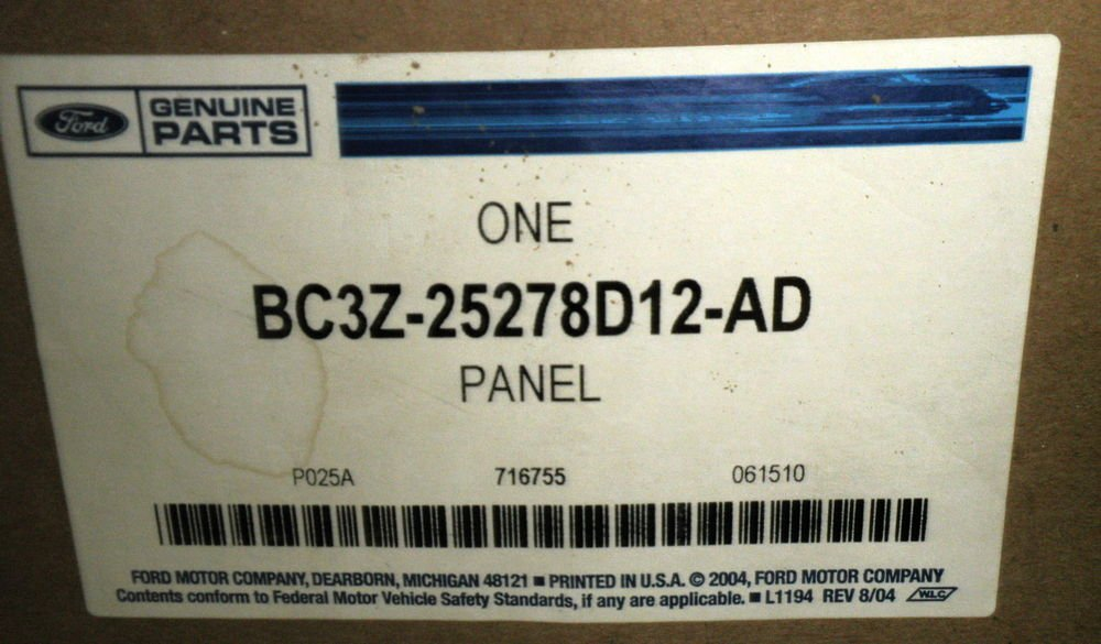 Ford Genuine Parts - Right / Passenger Side Upper Trim Panel #BC3Z-25278D12-AD