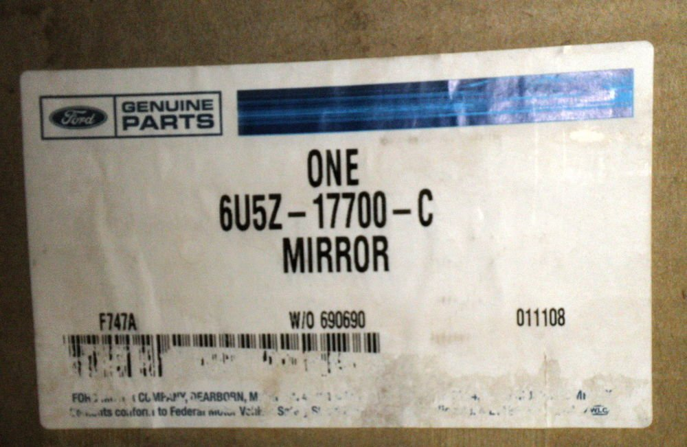 Ford Genuine Parts - Rearview Mirror #6U5Z-17700-C