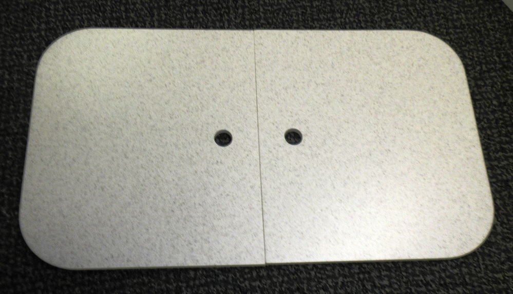"RV Aurora Speckled Corian Sink Cover Set Size: 25 1/2"" X 14 1/4"" X 3/8"""