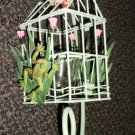 """Simson 12"""""""" Metal Tulip & Frog Bird Cage Candle Holder #003-01386"""