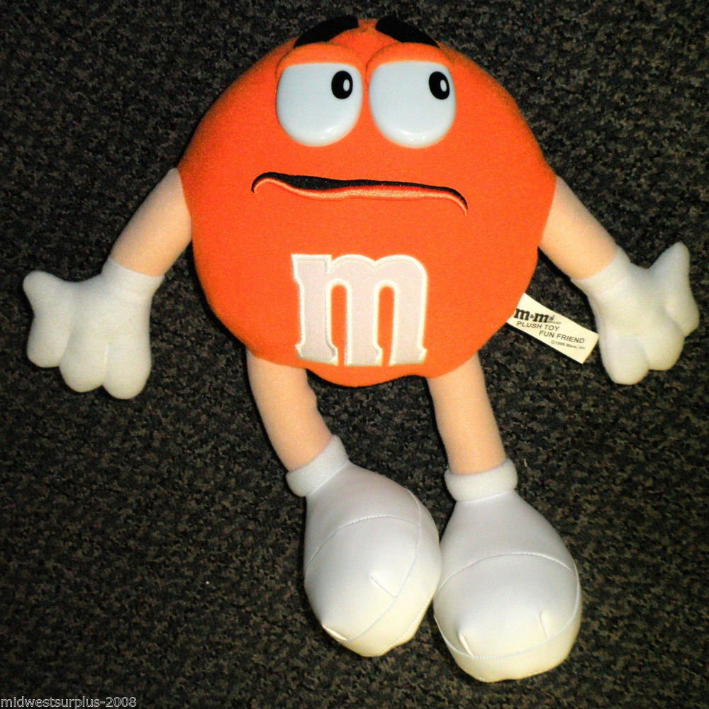 "Mars Inc M & M Orange 13 1/2"" Plush Toy Fun Friend"