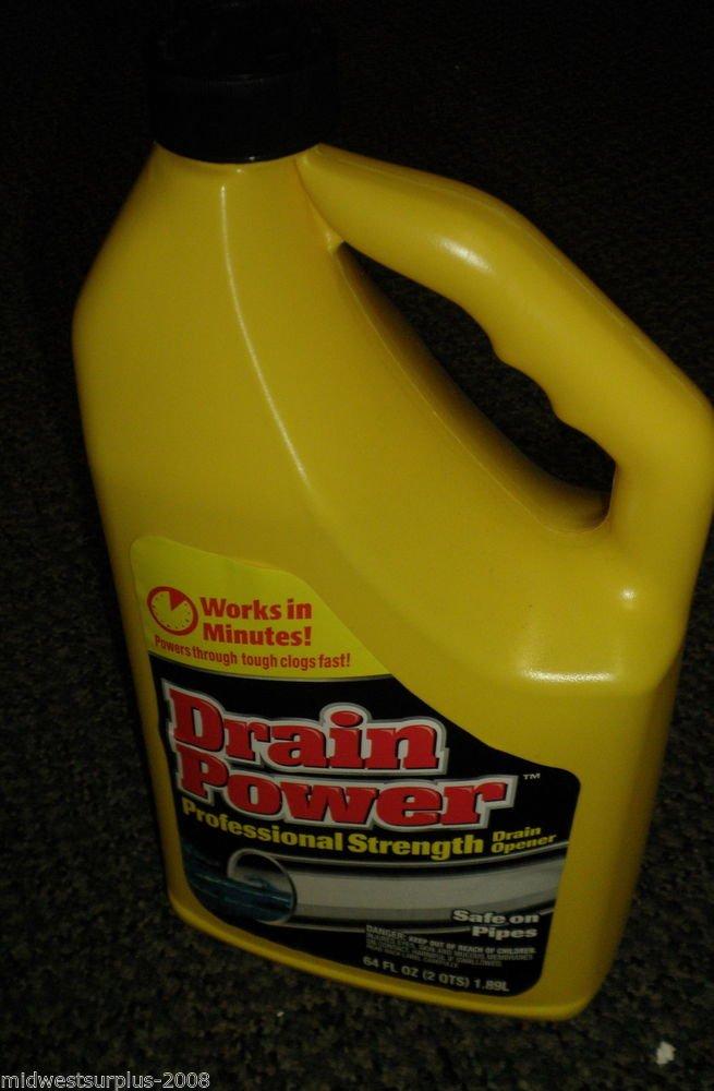 Drain Power Professional Strength Drain Opener 64 Fl. Oz