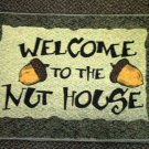 Welcome To The Nut House Rug / Door Mat - Green Multi Color
