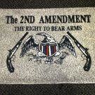 The 2nd Amendment The Right To Bear Arms Rug / Door Mat - Taupe / Beige