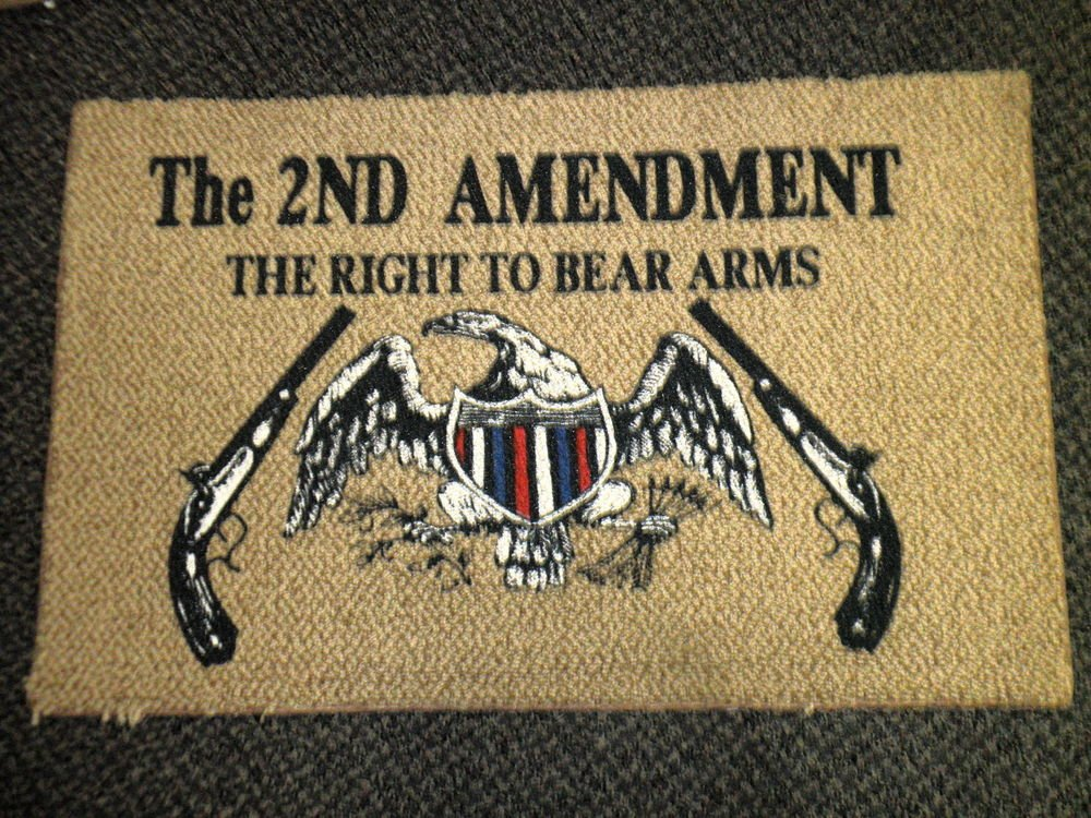 The 2nd Amendment The Right To Bear Arms Rug / Door Mat - Tan / Brown