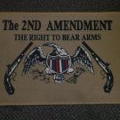 The 2nd Amendment The Right To Bear Arms Rug / Door Mat - Tan