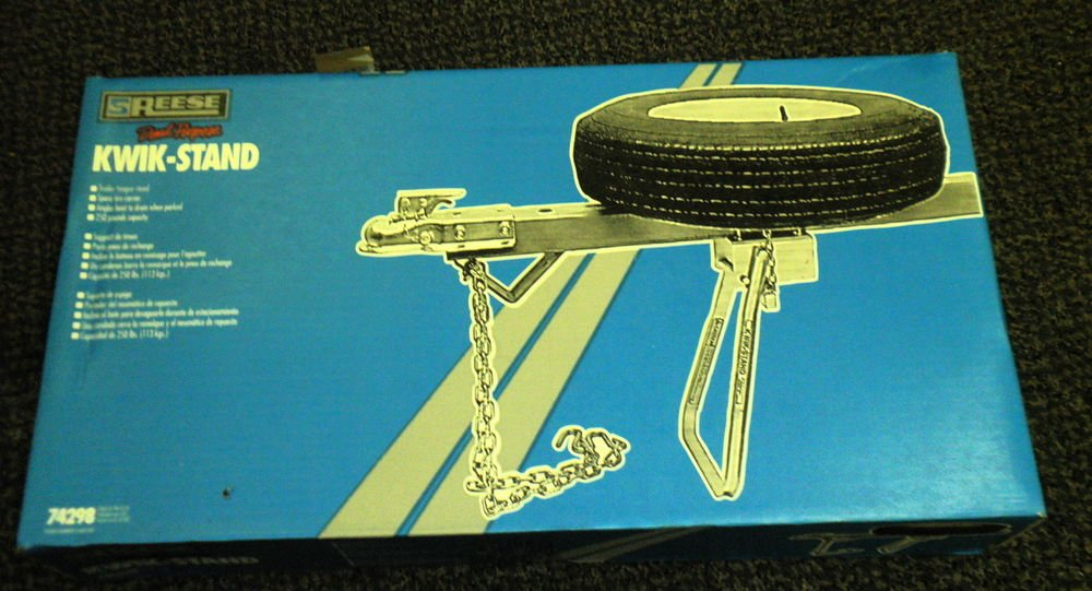 Reese Dual Purpose Kwik-Stand - Trailer Tongue / Spare Tire Carrier #74298