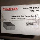 Dynaflex Modular Surface Jack - White 4 Conductor  Box 10 #TA-5012