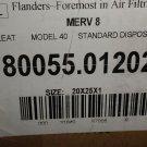 "Flanders Pre Pleat Standard Merv 8 20"" X 25"" X 1"" Air Filter 12 Piece  #8005.012"