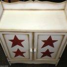 LCI  2 Door Wood Patriotic Storage Cabinet #SGQ204542-01