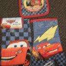 Disney Pixar Cars 3 Piece Kitchen Set : Dish Towel, Pot Holder, Oven Mitt