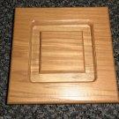 """Wood Square Rosette Square Trim Accent Pieces Size: 5-3/4"""" X 5-3/4"""""""