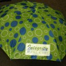 "Vitronic Green ""Integrity Home Care"" Push Button Auto Open Umbrella #F703G"