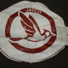 "Woody's Cover Up White / Red Jayco Size R 8"" Vinyl Tire Cover #0082395"