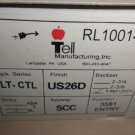 Tell Mfg. Lever Lockset LT-CTL Entry RL100148 CTL Lever 6 Way Latch