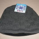 Leisure Time Gray Cable Knit Fleece Lined Beanie Cap OSFM #042649061097
