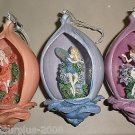 Bradford Edition 5th Issue Secret Garden Heirloom Porcelain Ornaments (3) #38855