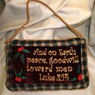 "JDY Inc / Chesapeake Bay Scripture 10"" X 6"" Mini Pillow With Cord Luke 2:14"