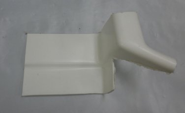 "Majestic Plastics RV White 4"" X 7"" Roof Drain Diverters Set 2 # 0407049997B"