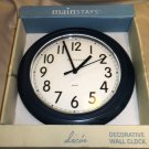 "Mainstays Blue 8.75"" Plastic Battery Operated Wall Clock #339676BLUE"