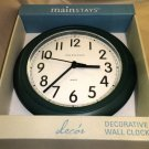 "Mainstays Green 8.75"" Plastic Battery Operated Wall Clock #339676GREEN"