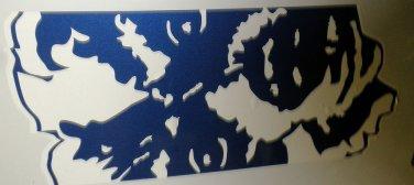 "RV Decal ""Dutchman Rear Face"" Blue / White Size: 10 3/4"" X 25 1/2"" #DUT005705"