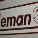 "RV Decal ""Coleman Logo"" Burgundy / White Size: 12 3/8"" X 36 1/2"" #20152"