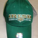 Top Of The World University Of Notre Dame Irish Baseball Cap Green OSFM #12328