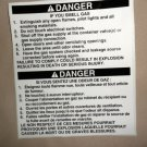 "RV Decal Danger If You Smell Gas English / Spanish Size: 5"" X 5 5/8"""