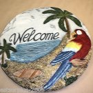 """Young's Inc Welcome Parrot Wall Plaque Size: 10"""" Round #096587100370"""