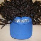 Cowboys Blue Visor With Brown Dread Locks OSFM