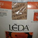 LEDA Tahiti Ultra Sheer Reinforced Toe Small Pantyhose 3 Pair #525
