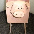 "LCI  ""Pig"" Farm Animal Metal Planter With Feet #409914"