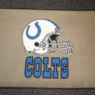 """Indianapolis Colts Football Helmet Rug - Tan  Size: 18"""" Wide X 27"""" Long"""