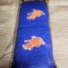 DM Extreme Sport Embroidered Skateboard Wristbands Blue/Orange #DWR2XBD