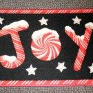 """Holiday Border """"JOY"""" Accent Rug Size: 18"""" X 27"""" #038698655721JOY"""
