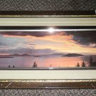 """Sunset On The Mountain 3D Framed Artwork Size: 21"""" Wide X 11 1/2"""" Long"""