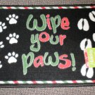 "Holiday Border ""Wipe Your Paws"" Accent Rug Size: 18"" X 27"" #038698655721WYP"