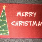 "Holiday Border ""Merry Christmas"" Accent Rug Size: 18"" X 27"" #038698655721MC"