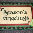 "Holiday Border ""Season's Greetings"" Accent Rug Size: 18"" X 27"" #038698655721"